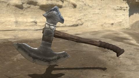 Medieval Stone Axe, Worn