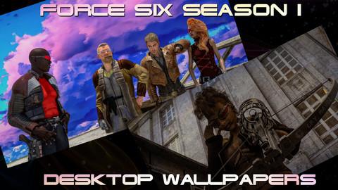 Force Six Season I Desktop Wallpaper package