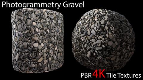 Photogrammetry Gravel_2 PBR 4k Tile Texture
