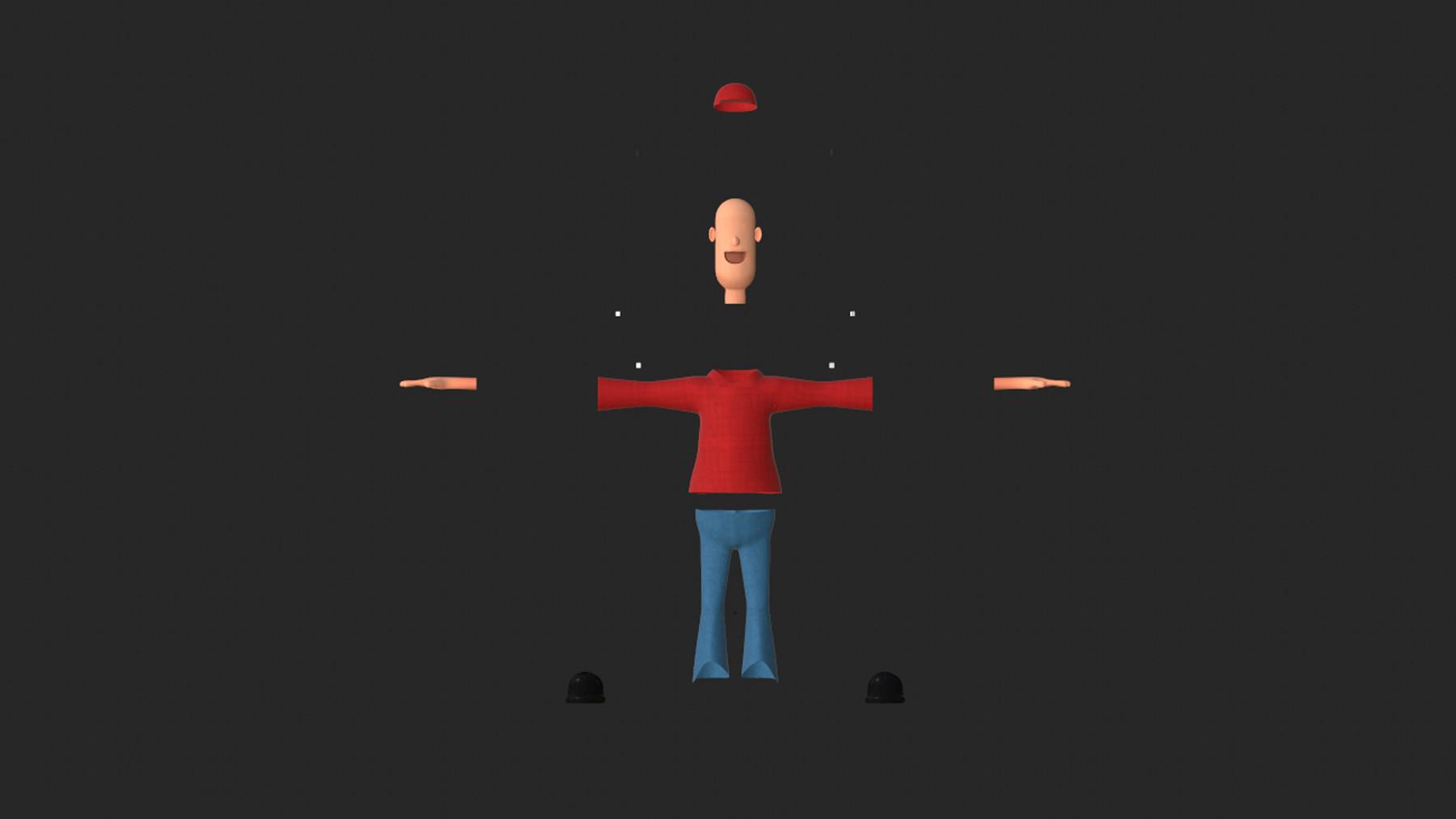 Omar Bassam - Simple Cartoon Character Low-poly 3D model