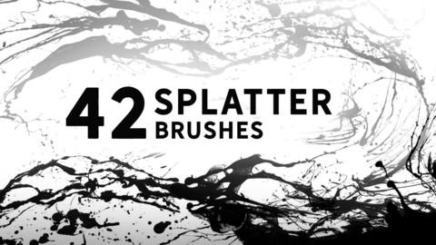 42 Splatter brushes photoshop