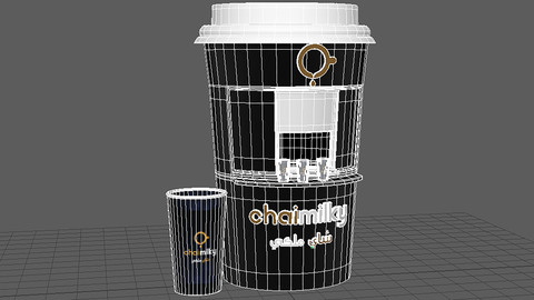 Coffee Cup Shop 3D Models