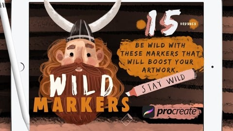 Wild Markers Procreate Brushes