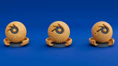 Cartoon Style Wood