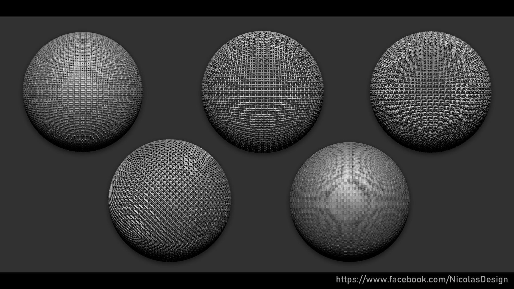 Nicolas Swijngedau Character Artist - Zbrush - Textile Nano Brush +