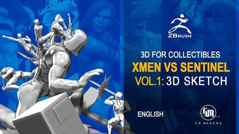 The X-Men Vs Sentinel Vol 1: 3D Sketch