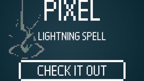 Lightning Spell - Pixel Art