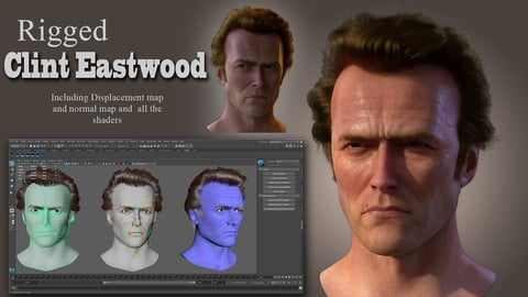 Clint Eastwood - Dirty Harry - Rigged Model with Textures