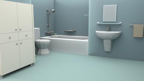 Cartoon Bathroom