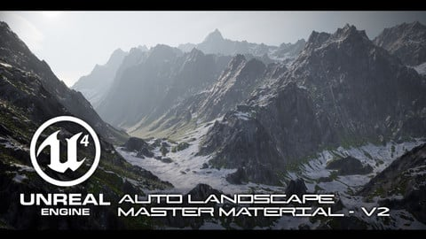 UE4 Auto Landscape Master Material Pack - Small Business License (Under 100k in Revenue)