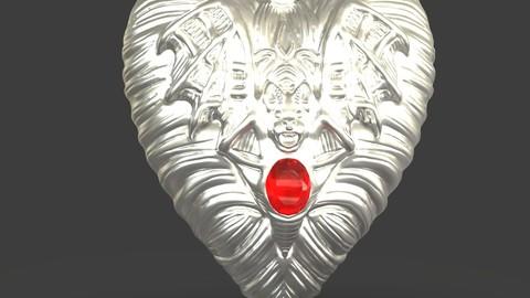 Jewelry Vampire Heart Pendant