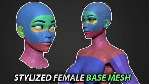BASE MESH - Stylized Female