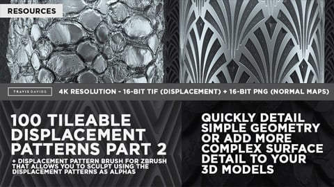 100 Tileable Displacement/Alpha Patterns Part 2
