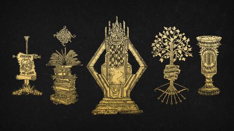 Vector Fantasy Crest Heraldry Collection