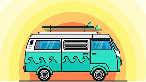 Hippie Surf Van