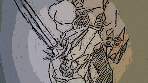 fantasy and sci-fi art sketch