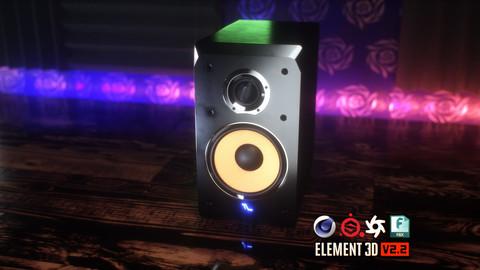 Studio Monitor Speakers 3D Model
