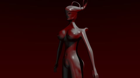 Queen of the Second Circle - Female Demon 3D Model
