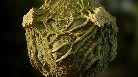 Forest Mossy Stump - Substance Designer