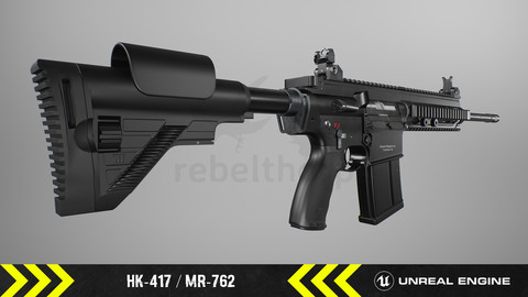 HK417 / MR762 - Animated FPS Weapon [ Unreal Engine ]