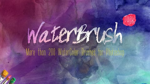 WaterBrush WaterColor Brushes PACK