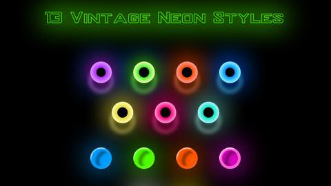 13 Vintage Neon Styles