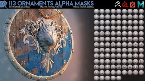 113 Ornaments alpha masks