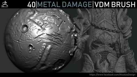Zbrush - Metal Damage VDM Brush