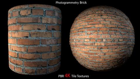Photogrammetry Brick wall PBR 4k Tile Texture