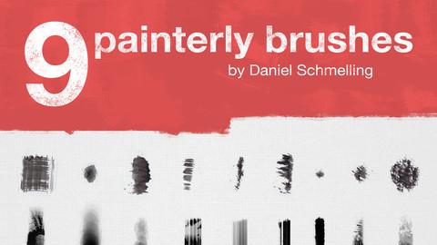 9 Painterly Brushes by Danart