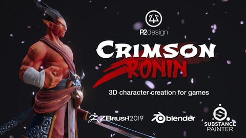 Crimson Ronin - 3D PBR character creation for games