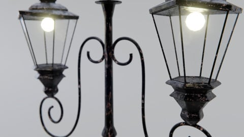 Old street lamp post