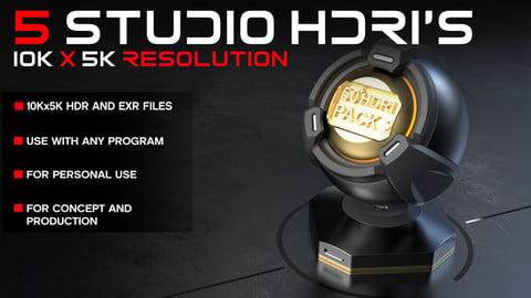 5 Studio HDRI's