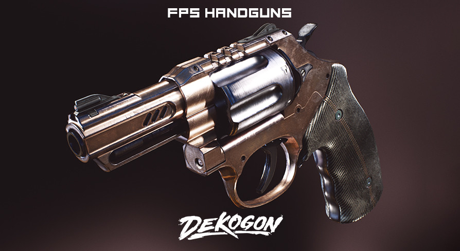 Dekogon Studios - Modern Handgun Weapons FPS VOL 1 [UE4+RAW]