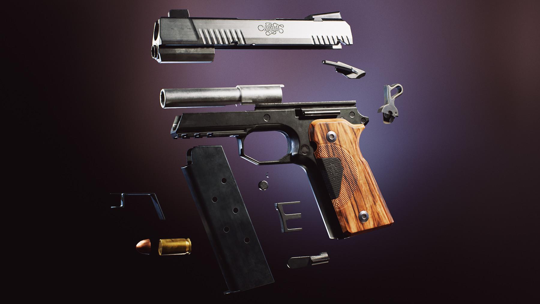 Dekogon Studios - Modern Handgun Weapons FPS COMBO PACK [UE4