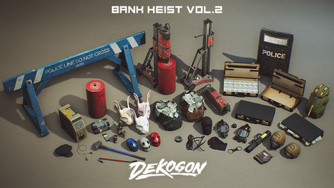 Bank Heist Props - VOL.2 (UE4+RAW)