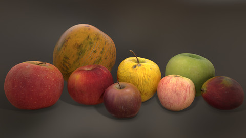 Photoscanned MiddlePoly Fruits Collection