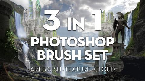 3 in 1 Photoshop Brush Set Combo Bundle