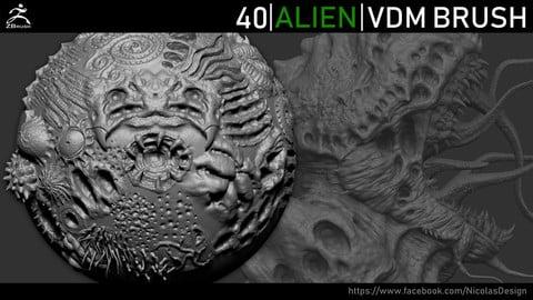 Zbrush - Alien VDM Brush