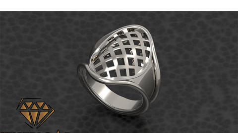 Oval Shape Men Ring