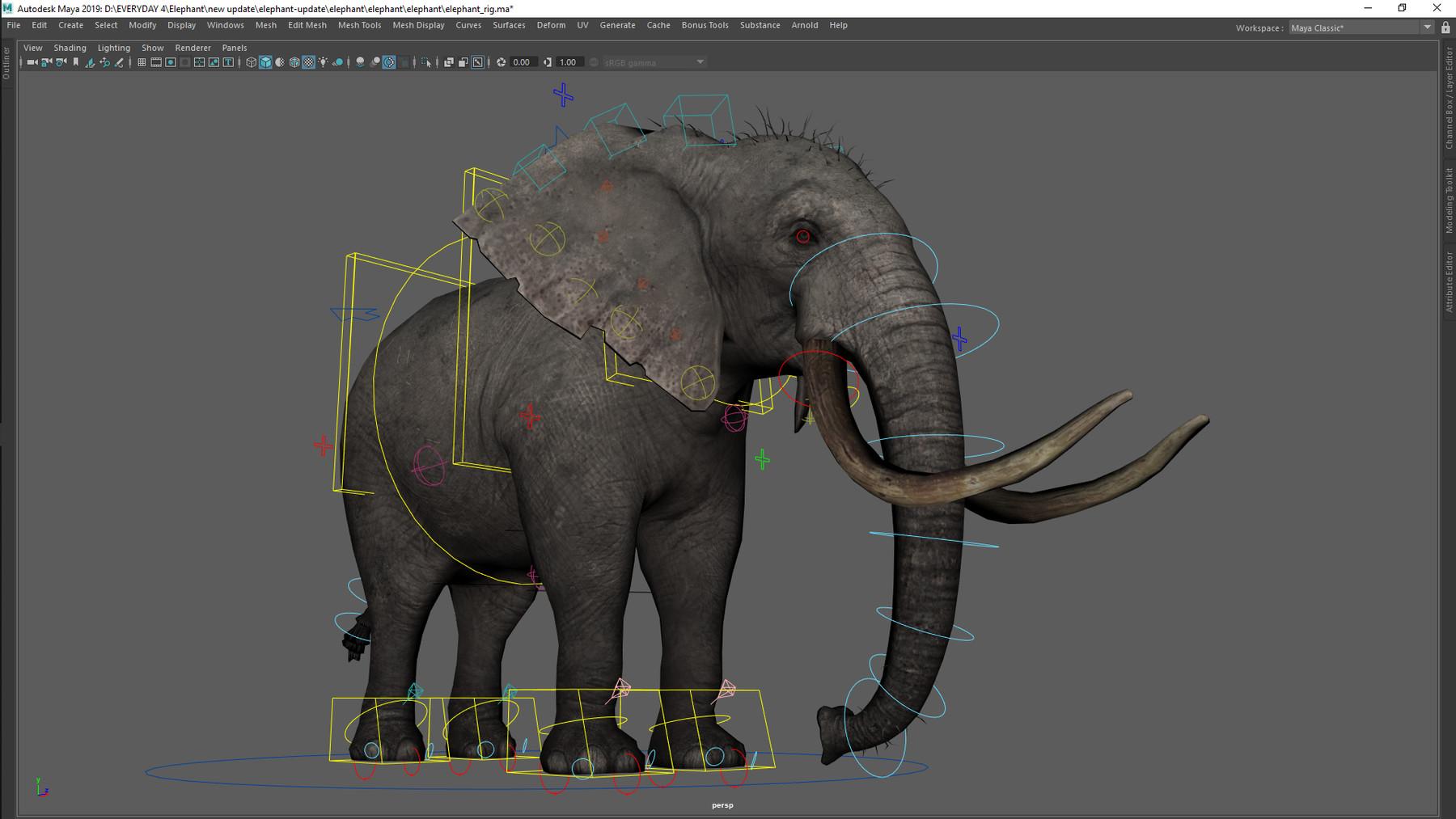Elephant Maya Rig by Truong CG Artist