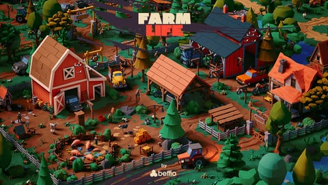 Farm Life - UE4, Unity3D, FBX Stylized LowPoly Art Package