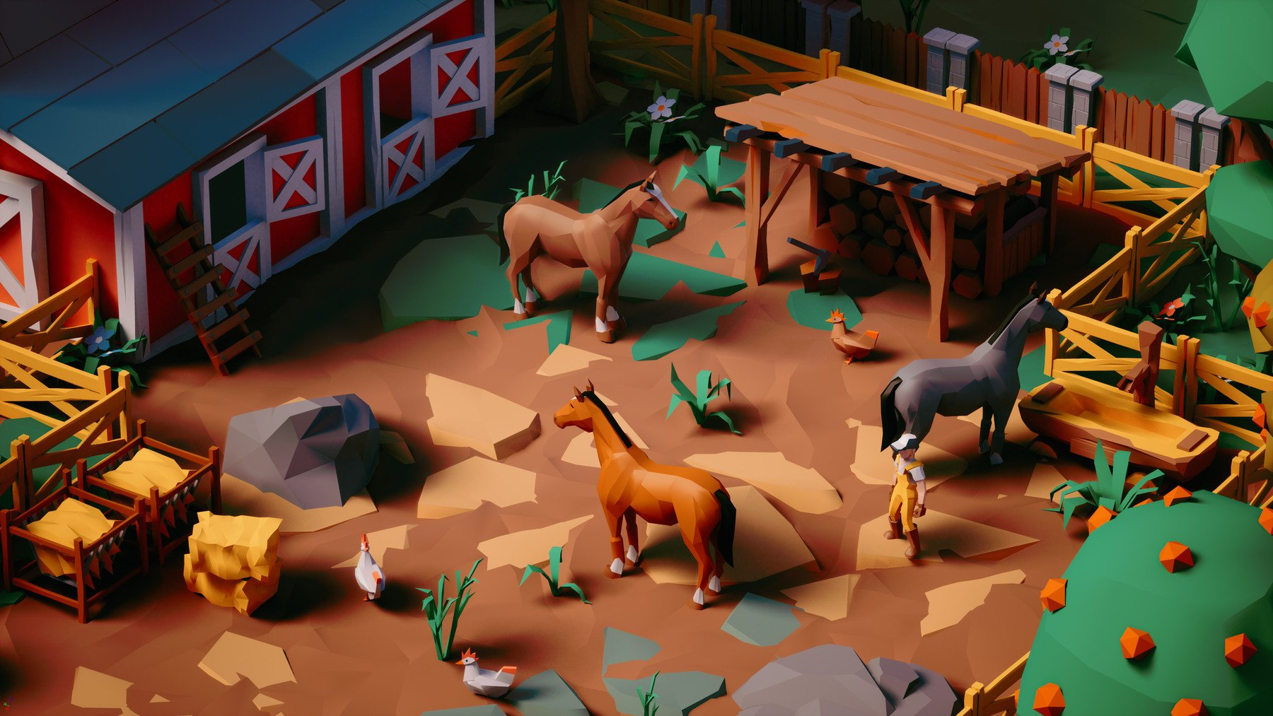 Farm Life - UE4, Unity3D, FBX Stylized LowPoly Art Package