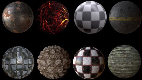 PBR Material Substance Collection - SBSAR