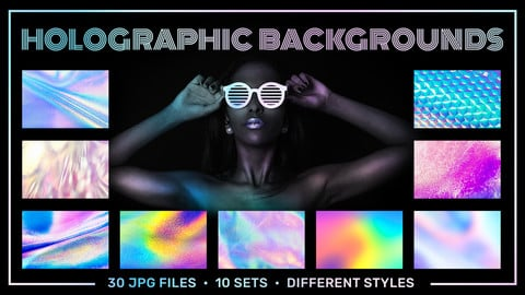 Holographic Foil Textures Backgrounds