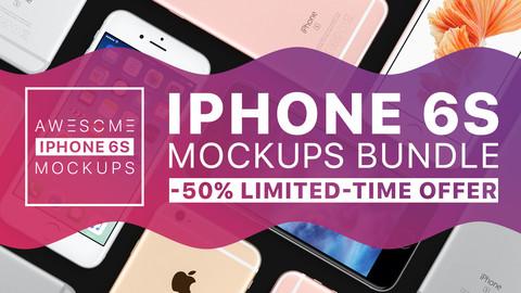 Awesome iPhone 6S Mockups BUNDLE