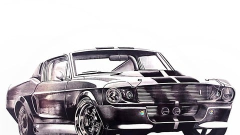 """Ford Mustang Shebly GT-500 """"Eleanor"""" Drawing"""