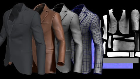 Suit (Marvelous Designer Video and File)