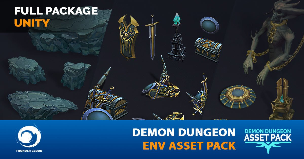 Dzung Phung Dinh Art - Demon Dungeon Asset Pack - Unity Full package