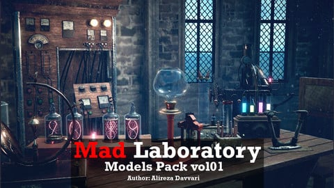 Mad Laboratory models pack for Unity Low-poly 3D model